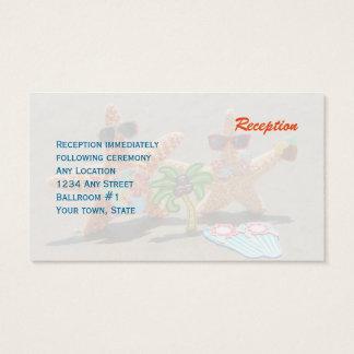 Hawaiian Starfish Couple Wedding Reception Business Card