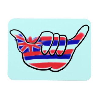 Hawaiian state flag shaka symbol souvenir magnet