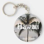Hawaiian Statehood anniversary Basic Round Button Keychain