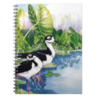 Hawaiian Stilts (Ae'o) Notebook