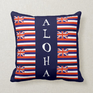 Hawaiian Style Aloha State Flag Throw Pillow