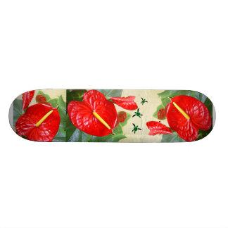Hawaiian Style Anthurium with Honu Trio Skateboard