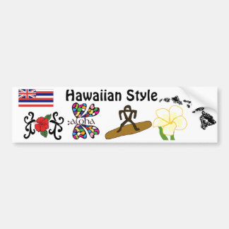 Hawaiian Style bumper sticker Car Bumper Sticker