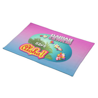 Hawaiian Style Cloth Placemat