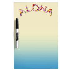 Hawaiian Style Dry Erase Board