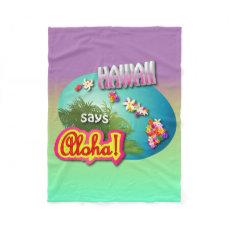 Hawaiian Style Fleece Blanket