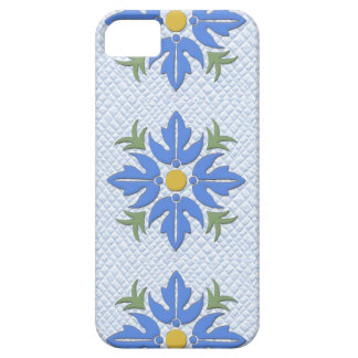 Hawaiian Style Flower Quilt Blue iPhone 5 Covers