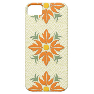 Hawaiian Style Flower Quilt Orange & Yellow iPhone 5 Case