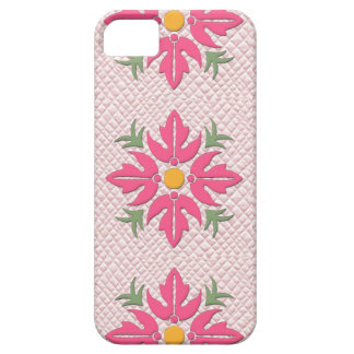 Hawaiian Style Flower Quilt Pink iPhone 5 Covers