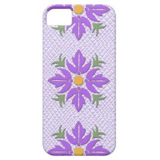 Hawaiian Style Flower Quilt Purple iPhone 5 Case