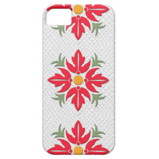 Hawaiian Style Flower Quilt Red iPhone 5 Case