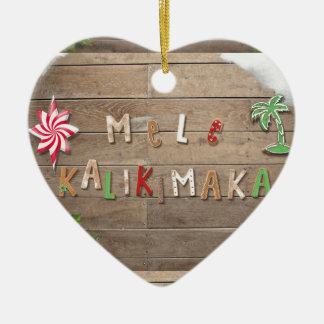 Hawaiian Style Gingerbread Greeting Ceramic Ornament