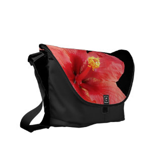 Hawaiian Style Hibiscus Messenger Bag