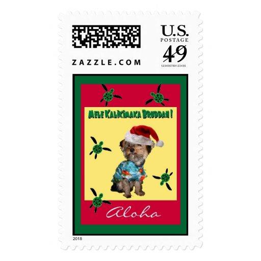 Hawaiian-Style Holiday Postage