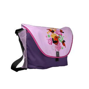 Hawaiian-style 'I'iwi Courier Bag
