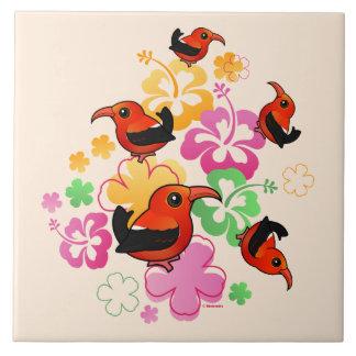 Hawaiian-style 'I'iwi Tile