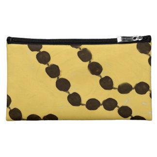 Hawaiian Style Kukui Nut Sueded Medium Cosmetic Ba Cosmetic Bags