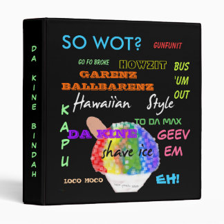 Hawaiian Style Pidgin English  Binder