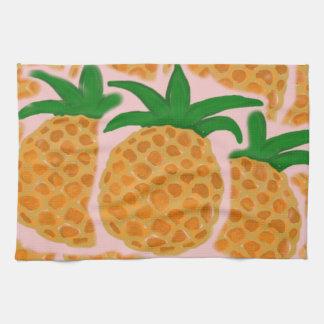 Hawaiian Style Pineapple Custom Kitchen Towel