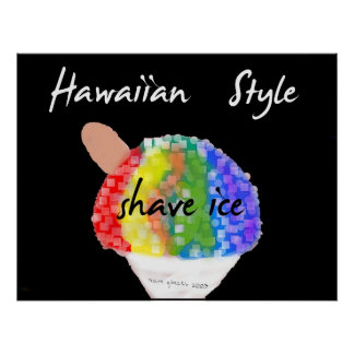 Hawaiian Style Shave Ice Art Print