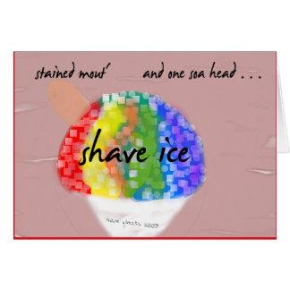 Hawaiian Style Shave Ice Greeting Card