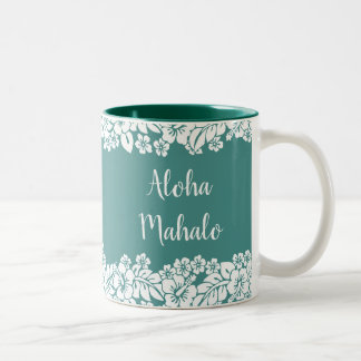 Hawaiian Style Two-Tone Coffee Mug