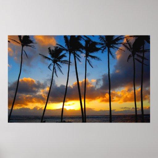 Hawaiian Sunrise Poster