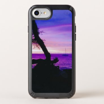 Hawaiian Themed Hawaiian Sunset, Anaeho'omalu Beach Speck iPhone Case