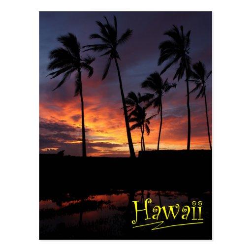 Hawaiian Sunset at Place of Refuge Postcard