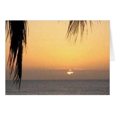 Beach Themed Hawaiian Sunset Blank Card