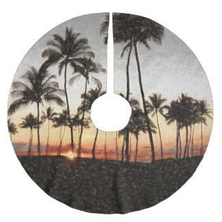 Hawaiian Sunset Brushed Polyester Tree Skirt