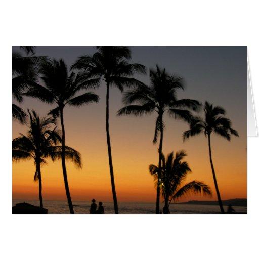 Hawaiian Sunset Card