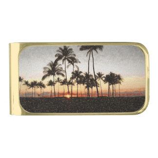 Hawaiian Sunset Gold Finish Money Clip