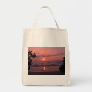 Hawaiian Sunset Grocery Tote Bag