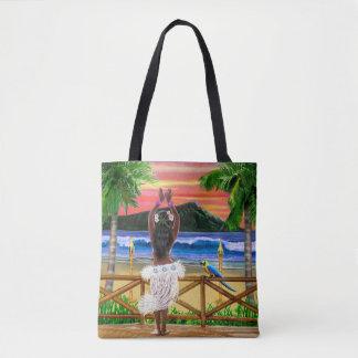 Hawaiian Sunset Hula Dancer Tote Bag