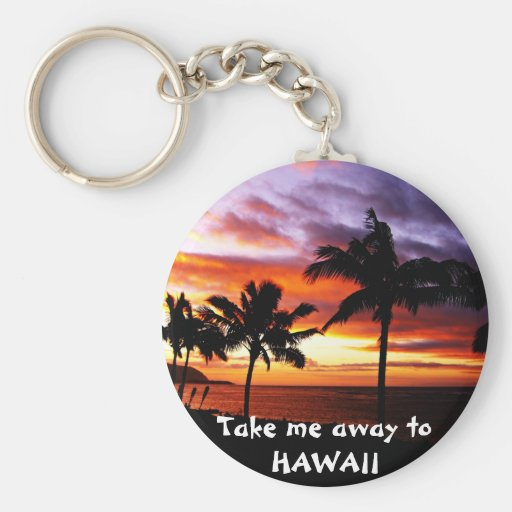 Hawaiian Sunset Keychain
