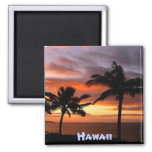 Hawaiian sunset magnet 2 inch square magnet