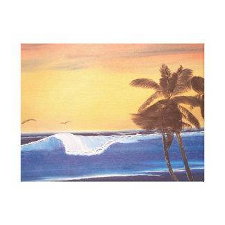 Hawaiian Sunset Oil Painting Canvas Print