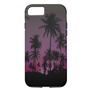Hawaiian Sunset Palm Trees Silhouettes iPhone 7 Case
