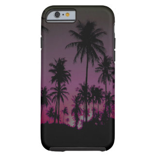 Hawaiian Sunset Palm Trees Silhouettes Tough iPhone 6 Case