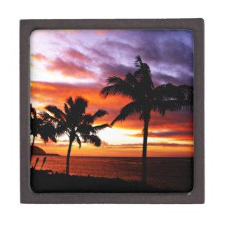 Hawaiian Sunset print Jewelry Box