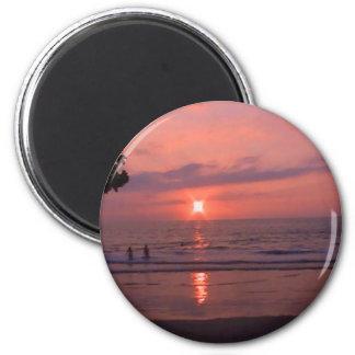 Hawaiian Sunset Round Magnet