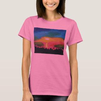 Hawaiian Sunset Sky Original Acrylic Painting T-Shirt