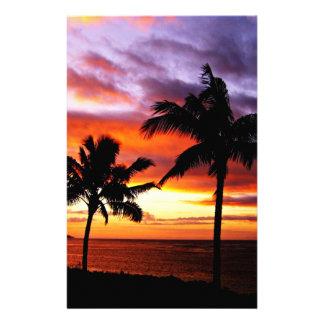 Hawaiian Sunset stationery