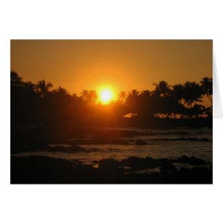 Hawaiian Sunset Thank You Card