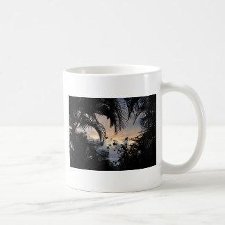 Hawaiian sunset through trees photograph coffee mug