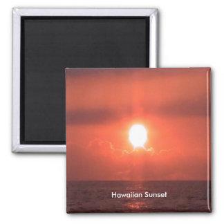 Hawaiian Sunset Up Close Magnet