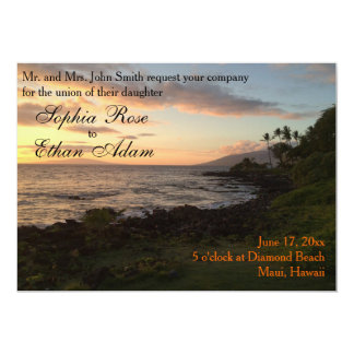 Hawaiian Sunset Wedding Invitation