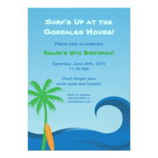 Hawaiian Surf Birthday Invitation