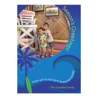 Hawaiian Surf Christmas Photo Card 5 x 7 Invites